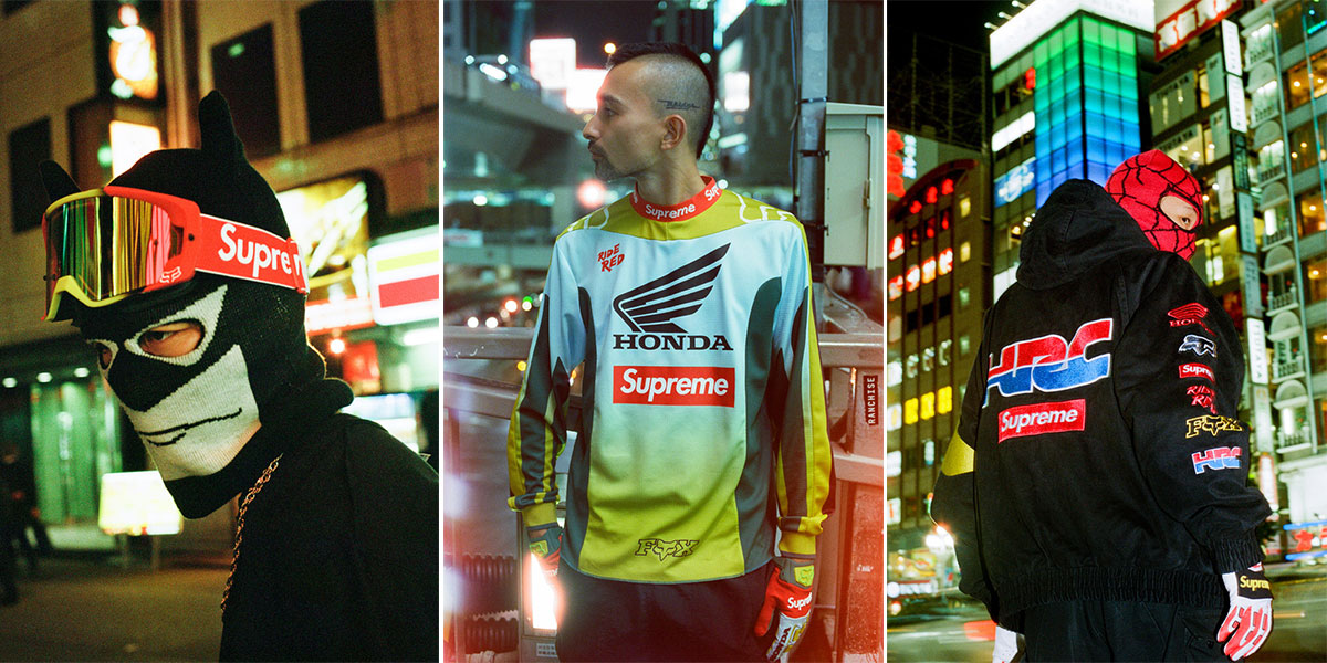 Supreme X Honda X Fox Racing